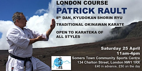 Shorin Ryu karate course, with Patrick Rault, 8th dan Kyudokan tickets