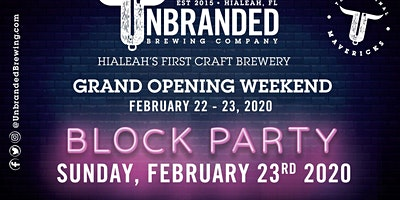 Unbranded Brewing Company Grand Opening!