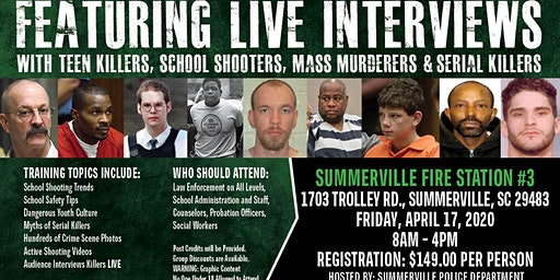 Profiling Teen Killers, School Shooters, Mass Murderers and Serial Killers by Phil Chalmers-Summerville, South Carolina-April 17, 2020