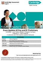 Exam Updates A2 Key and B1 Preliminary and Digital resources for Teachers