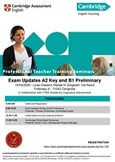 Exam Updates A2 Key and B1 Preliminary and Digital resources for Teachers biglietti