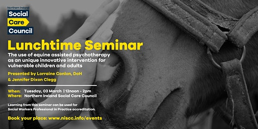Lunchtime Seminar: incorporating equines into therapeutic interventions