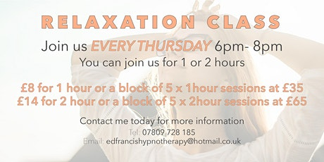 Relaxation Class tickets