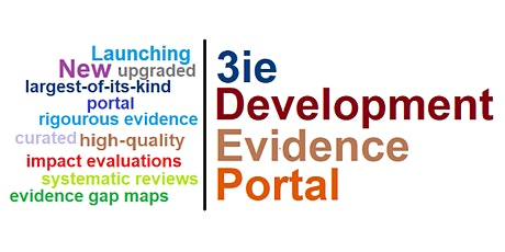 Launch of 3ie's Development Evidence Portal: What is the state of evidence? tickets