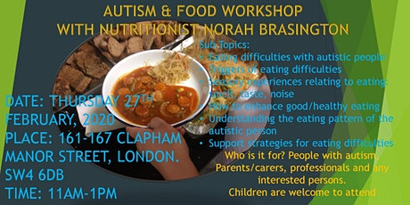 Autism and Food Workshop tickets
