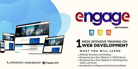 ENGAGE - 1 week training on Web Development and Design billets