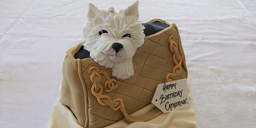 Sugar Craft Demonstration. Westie in a Handbag by Robert Whitten.