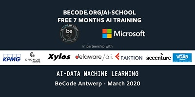 AI – Data Machine Learning Infosessie by BeCode Antwerp