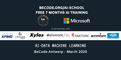 AI - Data Machine Learning Infosessie by BeCode Antwerp tickets