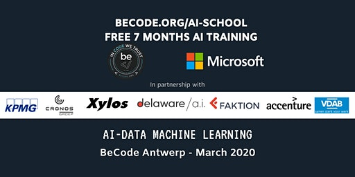 AI - Data Machine Learning Infosessie by BeCode Antwerp