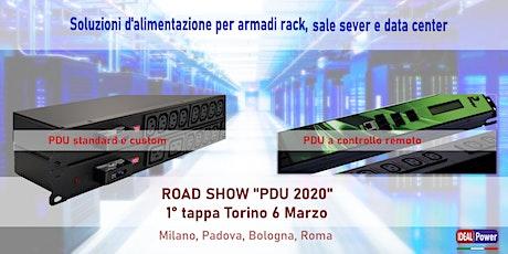 """ROAD SHOW """"PDU 2020"""" - 1 tappa  - Torino  6 Marzo - Esposizione prodotti biglietti"""