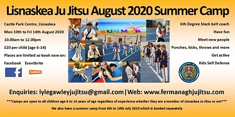 Lisnaskea Ju Jitsu August 2020 Summer Camp tickets