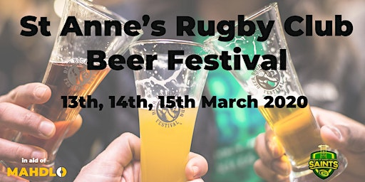 St Anne's Rugby Club Beer Festival in aid of Mahdlo Youth Zone