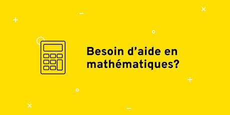 Séance de dépannage en mathématiques tickets