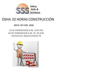 OSHA 10 HORAS CONSTRUCCION tickets