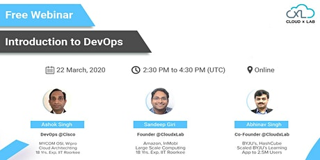 Free Online Webinar on Introduction to DevOps   Live Instructor-led Session tickets