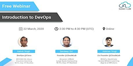 Free Online Webinar on Introduction to DevOps | Live Instructor-led Session bilhetes