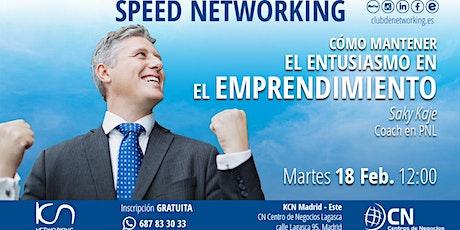 Cómo mantener el entusiasmo en el Emprendimiento & Speed  Networking entradas