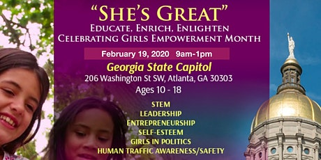 """Celebrating Girls Empowerment Month """"She's Great"""" tickets"""