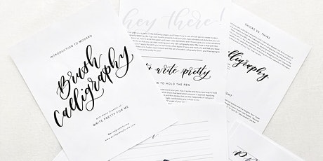 Modern Brush Calligraphy 101: Basic Strokes, Lowercase Letters + Numbers tickets