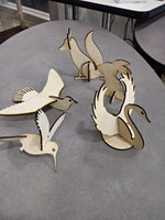 Laser Cut Animals, Fab Lab, wood cutting, engraving, painting
