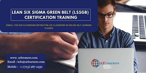 LSSGB Certification Training in Little Rock, AR, USA