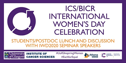Student/Postdoc Lunch and Discussion with IWD2020 Seminar Speakers