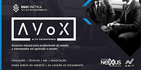 AVoX Alto Desempenho - Encontro mensal de vendas ingressos