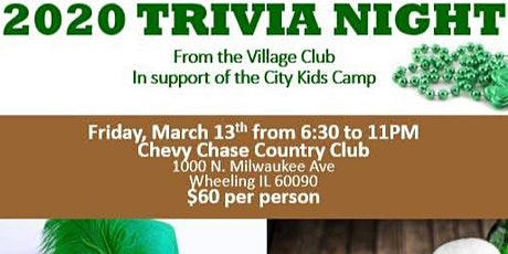 2020 Trivia Night from The Village Club of Lincolnshire tickets