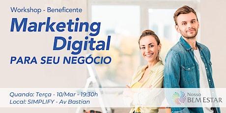 Marketing Digital para Profissionais da Saúde, Bem-estar, Qualidade de Vida ingressos