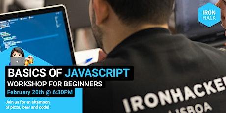 Basics of Javascript   Workshop for beginners bilhetes