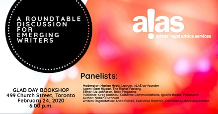 ALAS Presents: A Roundtable Discussion for Emerging Writers tickets