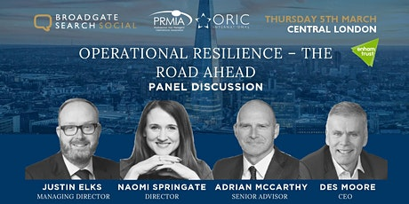 Operational Resilience – The Road Ahead tickets