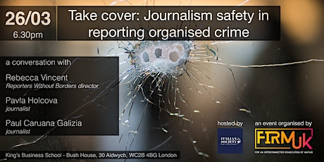 TAKE COVER: Journalism Safety in Reporting Organised Crime tickets