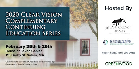 2020 Clear Vision Complementary Continuing Education Series for Real Estate Professionals tickets