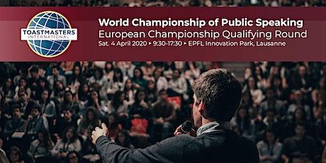 World Championship of Public Speaking - Qualifying Round for European Level tickets