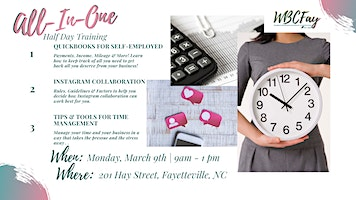 All-In-One Half Day Training: Quickbooks, Instagram & Time Management!