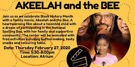 Akeelah and the Bee -Black History Month Event  tickets