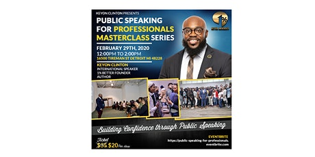 Public Speaking for Professionals Masterclass  tickets