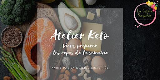 Atelier culinaire KETO - Préparation des repas de la semaine
