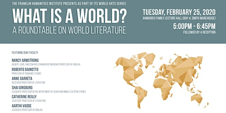 What is a World? A Roundtable on World Literature tickets