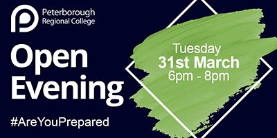 PRC Open Evening - Tuesday 31st March 2020 (6pm - 8pm)