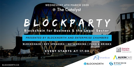 Blockparty: Blockchain for Business and the Legal Sector tickets