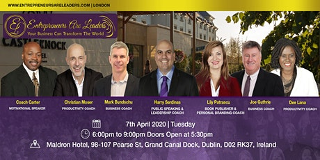 Entrepreneurs Are Leaders Workshop 7 April 2020 Evening tickets