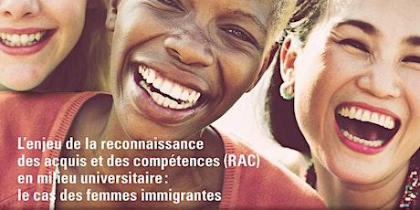 Femmes immigrantes universitaires et RAC billets