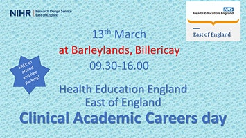 East England NHS Health Education England Clinical Academic Careers day 13th March