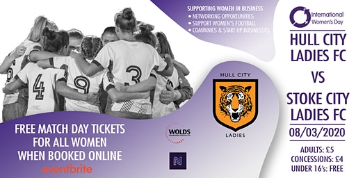 Hull City Ladies FC vs Stoke City // Home // 8th March // 2pm Kick-Off