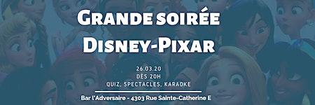 Soirée DISNEY-PIXAR 2020