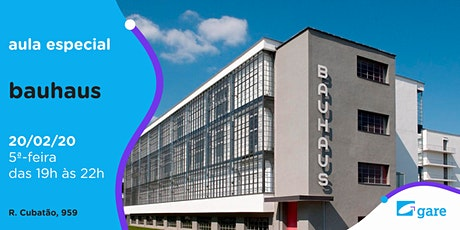 Aula Especial: Bauhaus ingressos