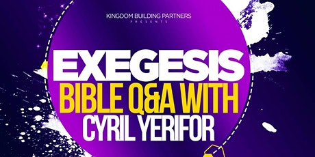 Exegesis Bible Questions and Answers tickets